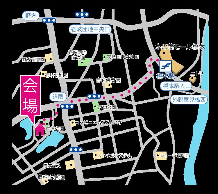 スタッフブログ| 完成見学会|福岡市西区野方|地図|画像02