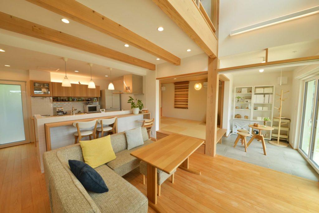 太宰府モデルハウス|リビング