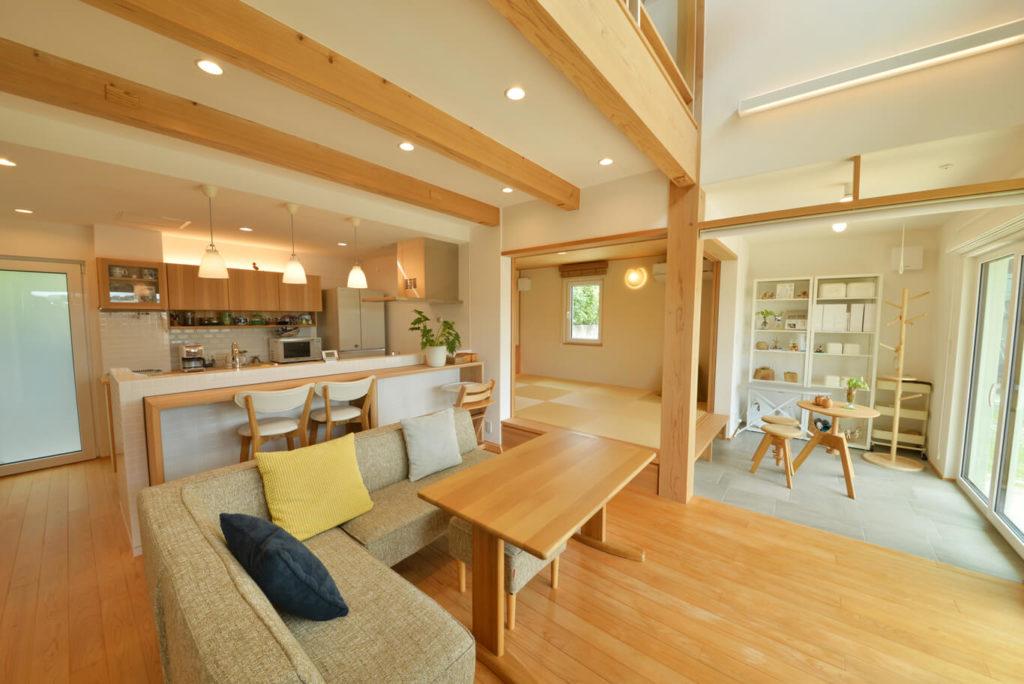 ウェルネストホーム九州|太宰府モデルハウス|リビング
