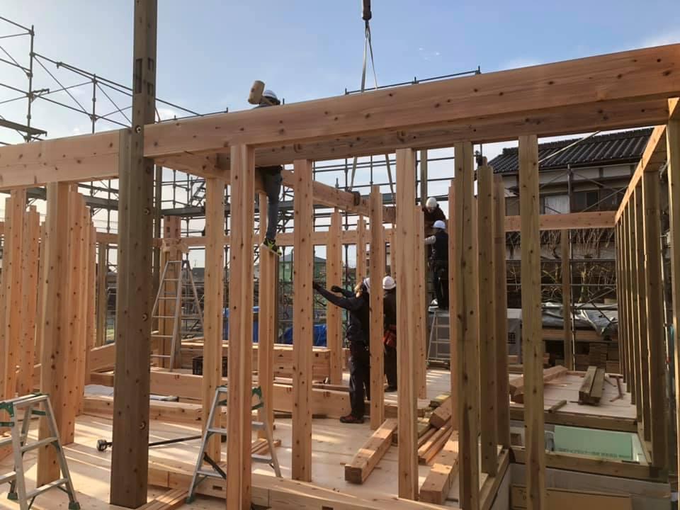 家づくりの流れ|施工|木工事|上棟1-2