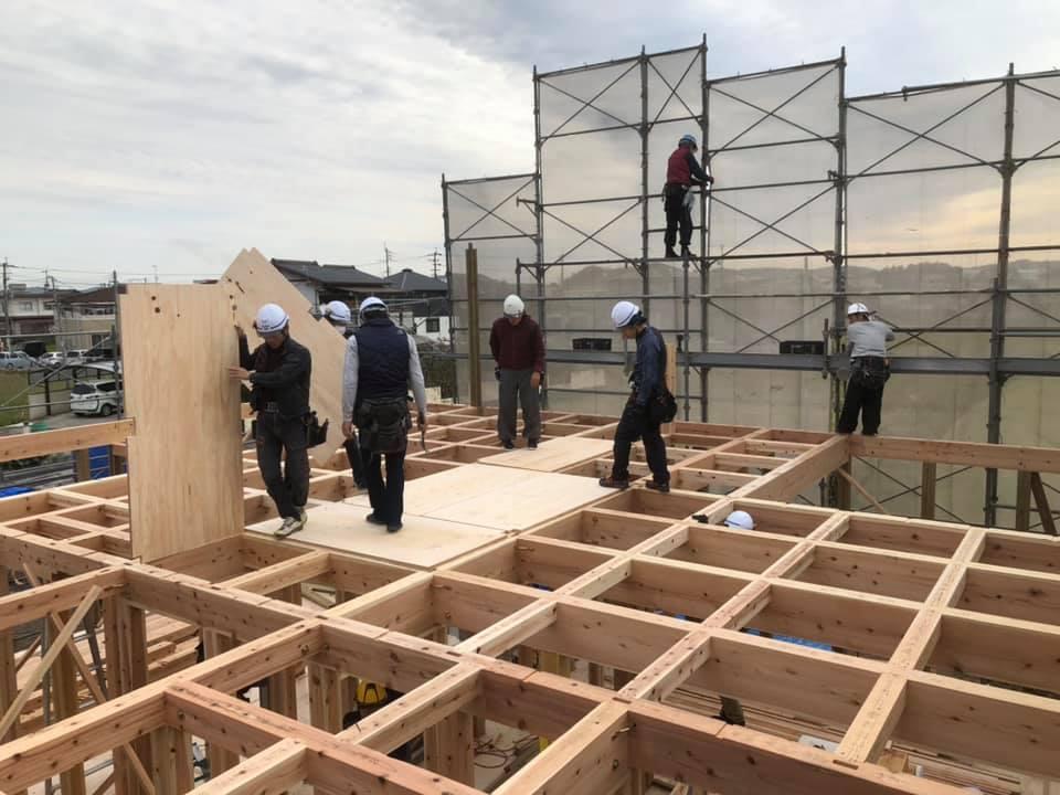 家づくりの流れ|施工|木工事|上棟3