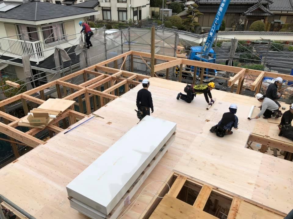家づくりの流れ|施工|木工事|上棟5