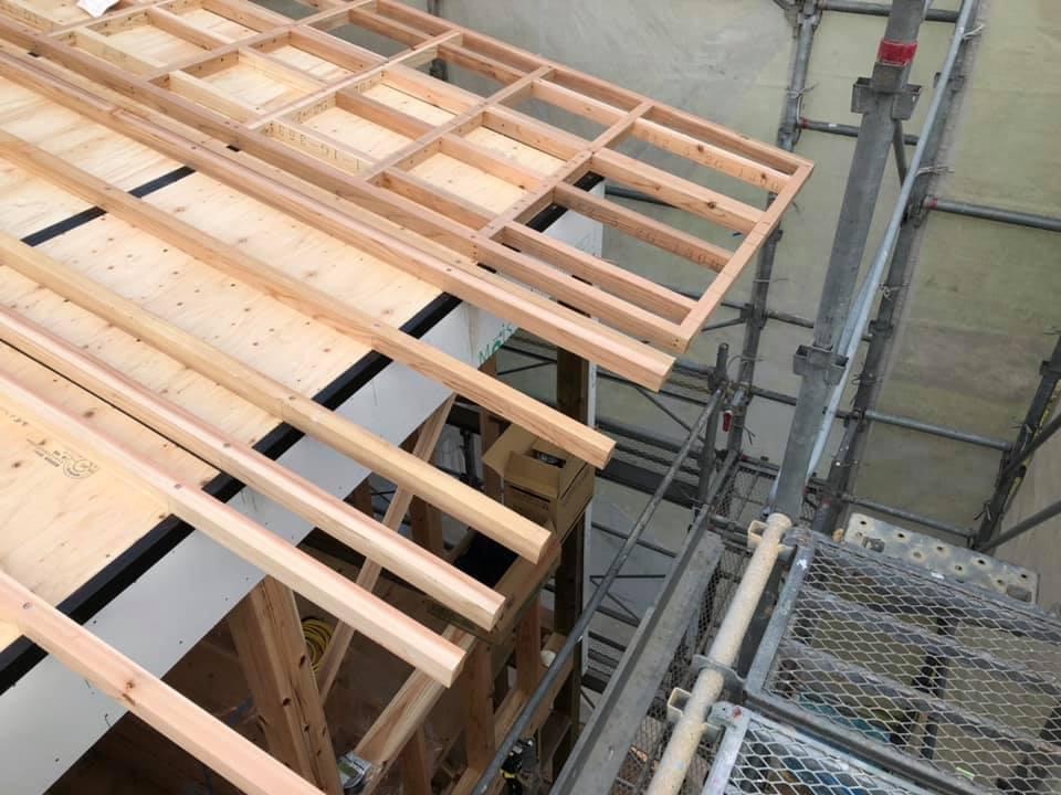 家づくりの流れ|施工|木工事|上棟6