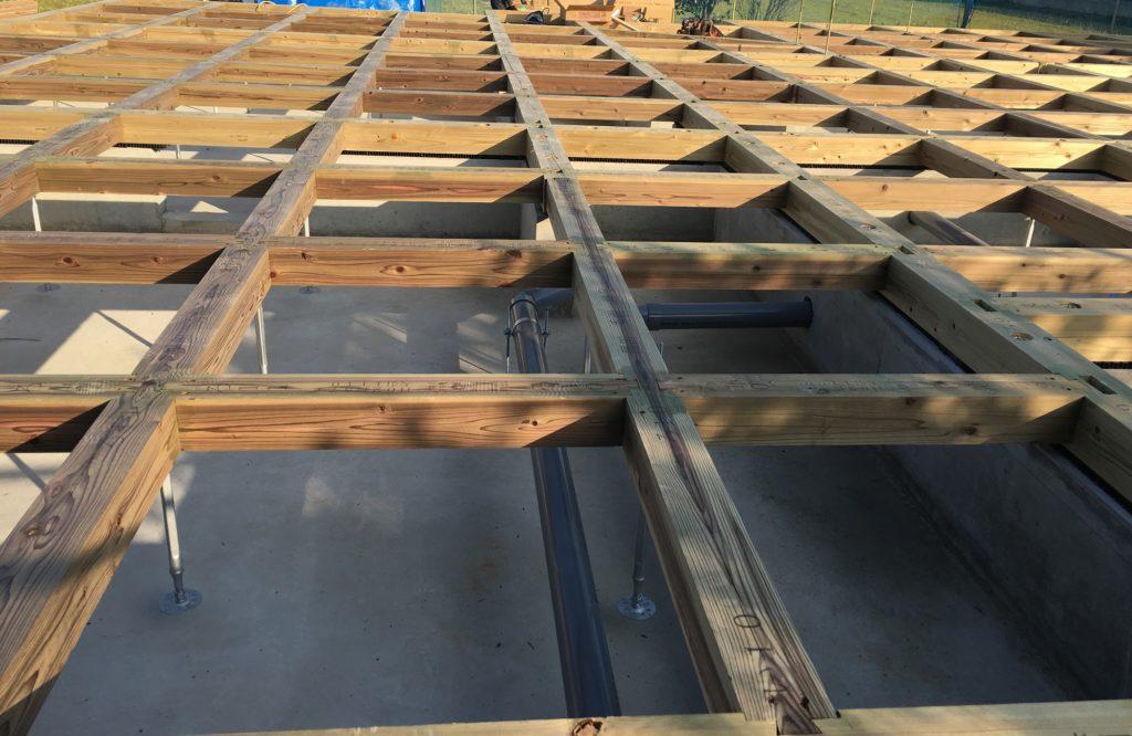 家づくりの流れ|施工|木工事|土台1